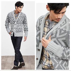 Banana Republic Sweaters - NWT! Banana Republic Graphic Shawl-Collar Cardigan